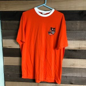 Vintage 90s Tiger Men's Orange Shirt size XL